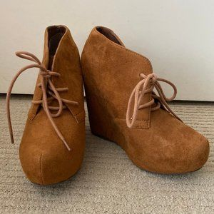 Soda Suede Heeled Booties